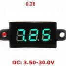 """0.28"""" Waterproof DC Digital Voltmeter Panel LED Voltage meter 3.50~30V Green"""