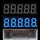 2PCS 0.36 inch 5 digit led display 7 seg segment Common ANODE Blue