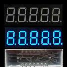 5 pcs 0.36 inch 5 digit led display 7 seg segment Common ANODE Blue