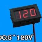 1PCS 0.56 inch Two Lines 5V~120V Electric meter LED digital voltmeter