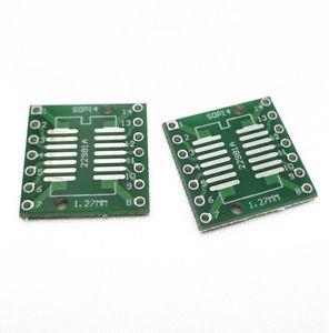 20PCS IC SOP14 SSOP14 TSSOP14 DIP 0.65/1.27/2.54mm Adapter PCB Board Converter