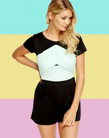 Mint Block Playsuit UK Large 10-12 � FREE Worldwide Shipping �