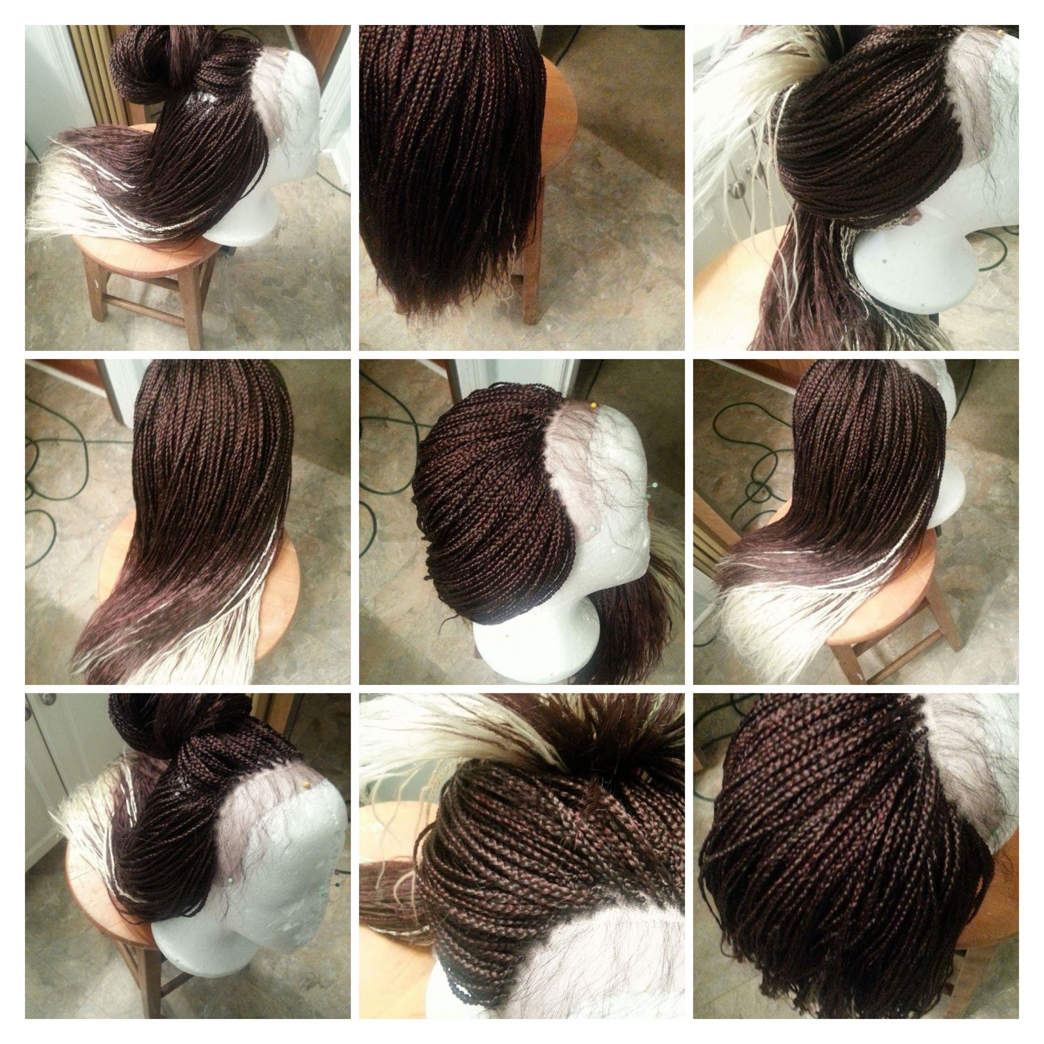 Box braided whole lace wig