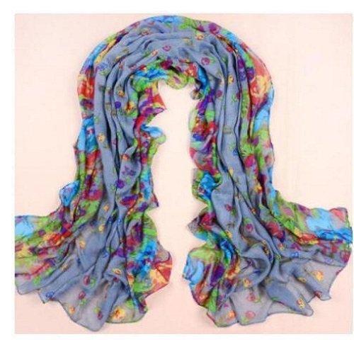 Women Print Cotton fold Scarf Wrap