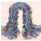Women Print Cotton fold Scarf Wrap