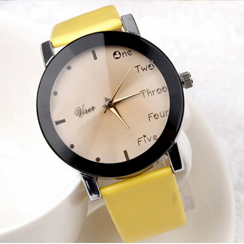 Hour Leisure Clock Letters Number Print Watches