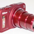 NEW! BONUS CANVAS BAG + 16GB-NIKON S9700 (RED) 16.0MP GPS, WIFI, DIGITAL CAMERA-SHIPS FROM USA