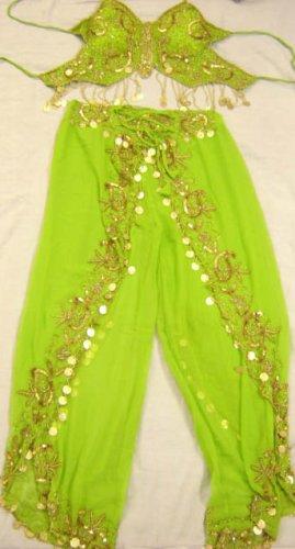 Green Belly Dance Top & Pant Set -- V0290