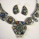Tribal Earrings & Necklace Set-- CS0727