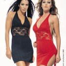 Red Halter Mini Dress -- 8478