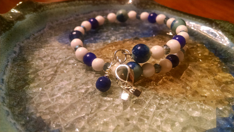 Tranquil [Blue Awareness Bracelet w/ Hope Charm] #742