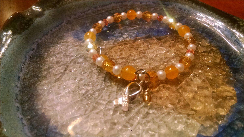 Ability [Yellow Awareness Bracelet w/ Hope Charm] #742