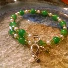 Courage [Green Awareness Bracelet w/Hope Charm] #493