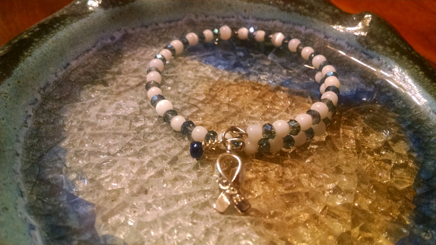 Brave [Blue Awareness Bracelet w/Hope Charm] #493