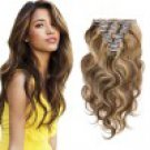 7pcs Body Wavy Clip In Remy Hair Extensions #4/27 16Inch