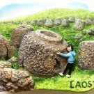 Plain of Jars LAOS High Quality Resin 3D fridge magnet