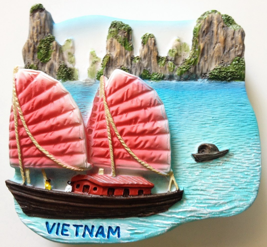Halong Bay VIETNAM High Quality Resin 3D fridge magnet
