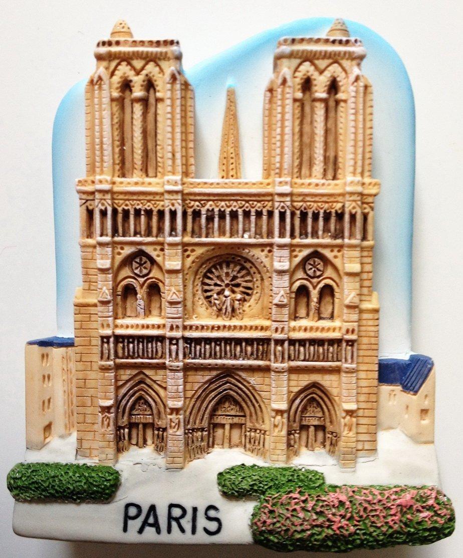 Notre Dame of Paris High Quality Resin 3D fridge magnet