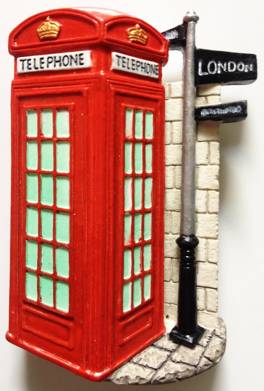 Telephone Booth LONDON High Quality Resin 3D fridge magnet