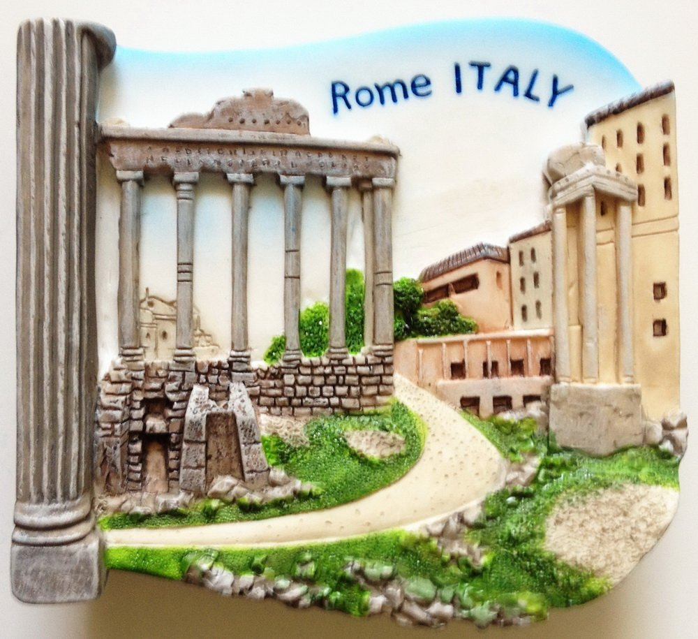 Roman Forum ROME Italy High Quality Resin 3D fridge magnet