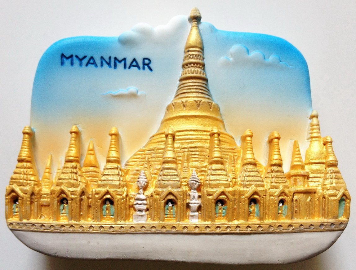 Shwedagon Pagoda MYANMAR High Quality Resin 3D fridge magnet