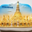Shwedagon Pagoda MYANMAR High Quality Resin 3D fridge magnet