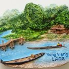 Nam Song River Vang Vieng LAOS High Quality Resin 3D fridge magnet