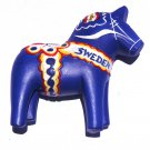 Blue Swedish Dala Horse Sweden High Quality Resin 3D fridge magnet