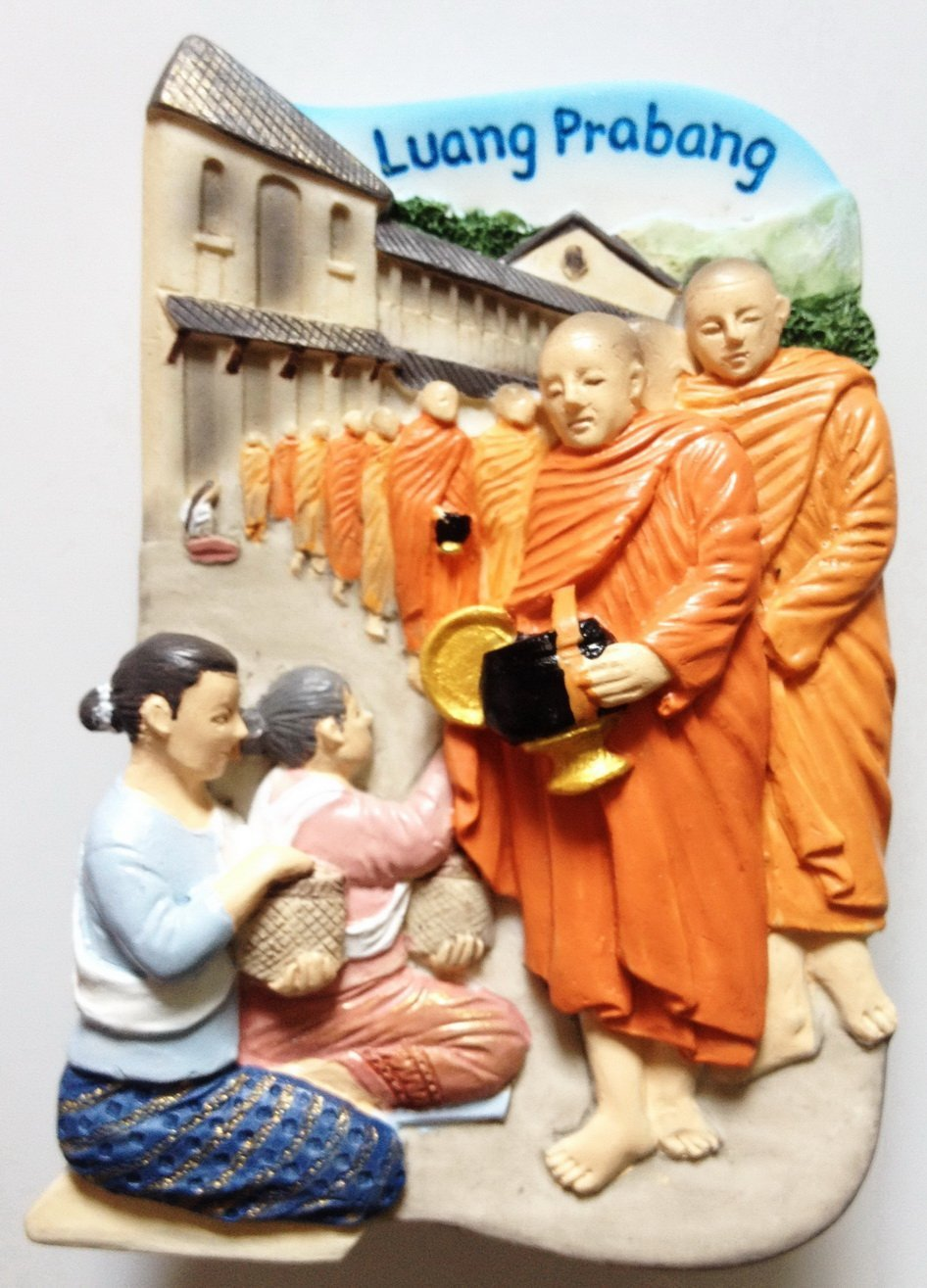 Aims Giving Luang Prabang LAOS High Quality Resin 3D fridge magnet