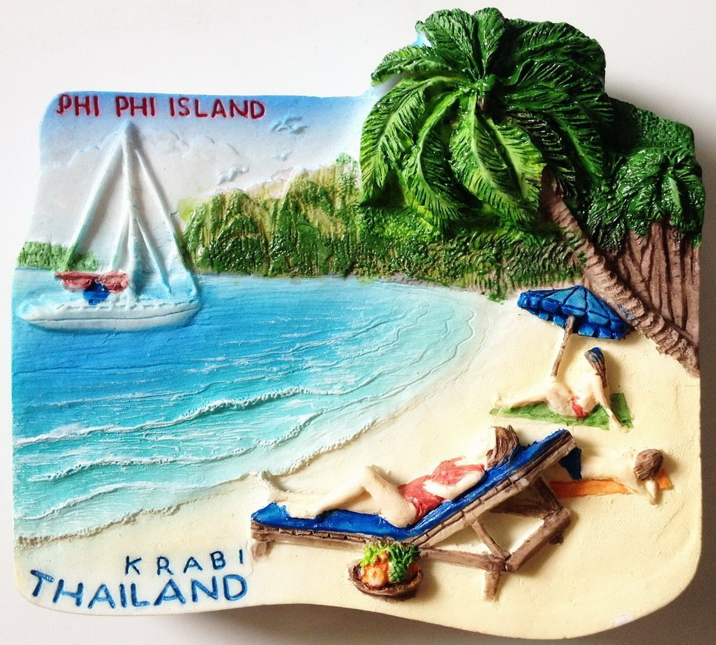 PHI PHI Island Krabi Thailand High Quality Resin 3D fridge magnet