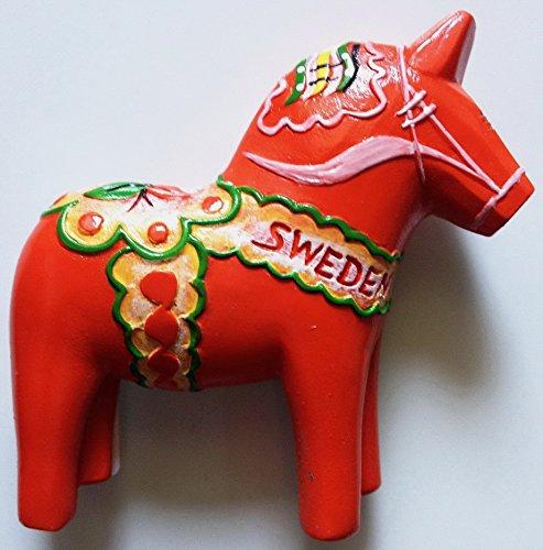 Red Swedish Dala Horse Sweden High Quality Resin 3D fridge magnet
