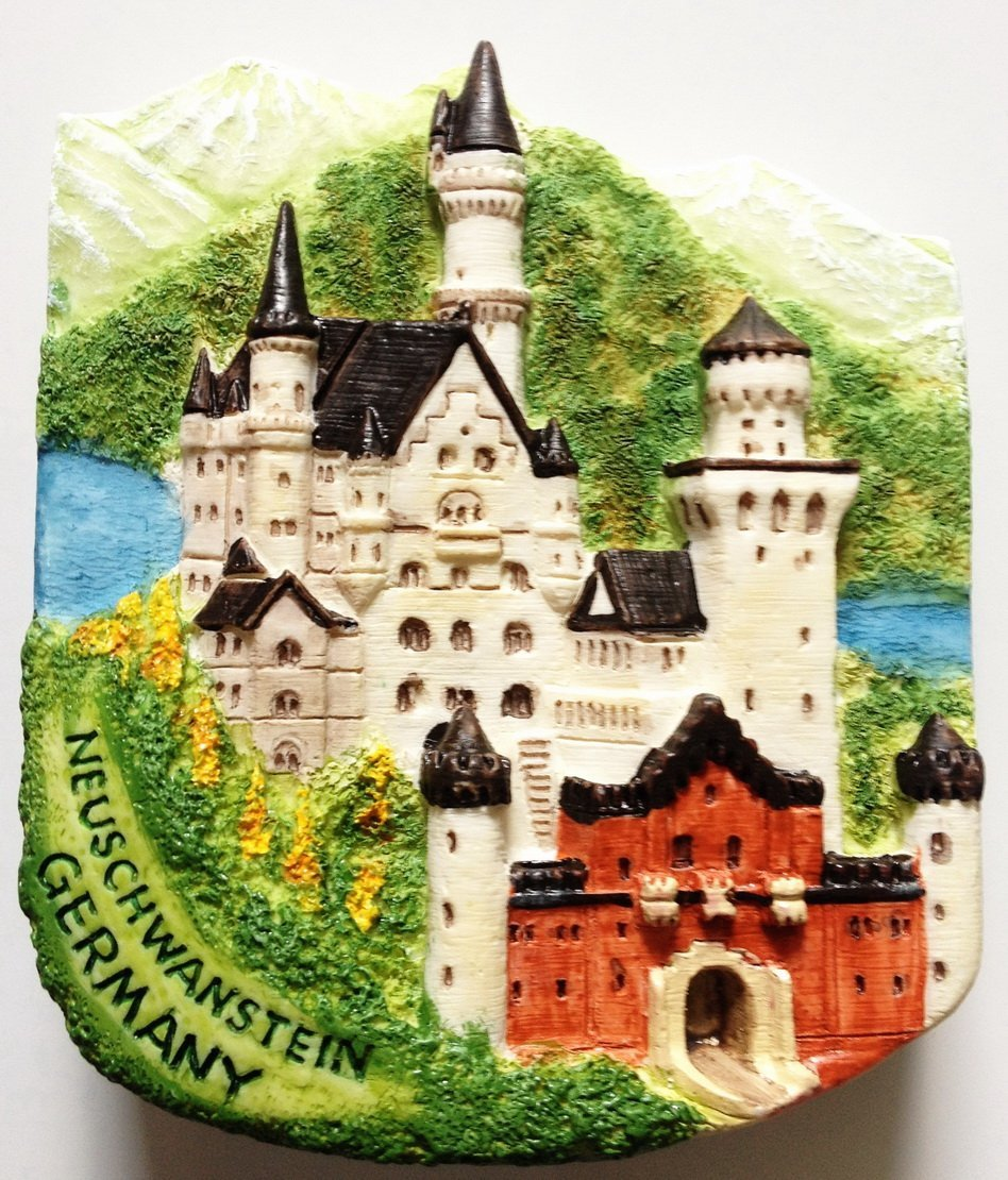 Neuschwanstein Castle GERMANY High Quality Resin 3D fridge magnet