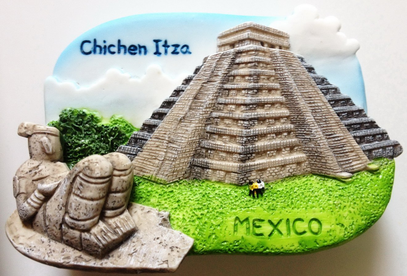 Chichen Itza Pyramid MEXICO High Quality Resin 3D fridge magnet