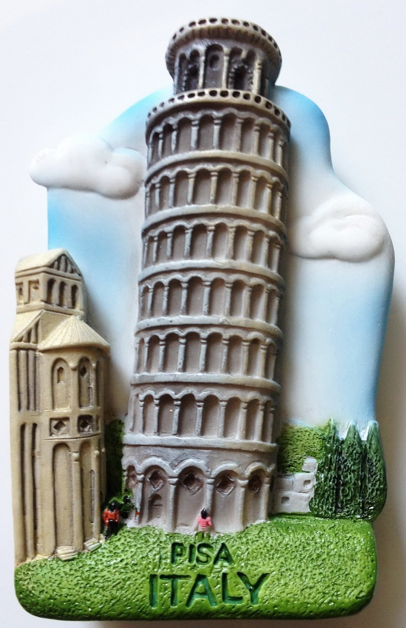 Leaning Tower of PISA ITALY High Quality Resin 3D fridge magnet