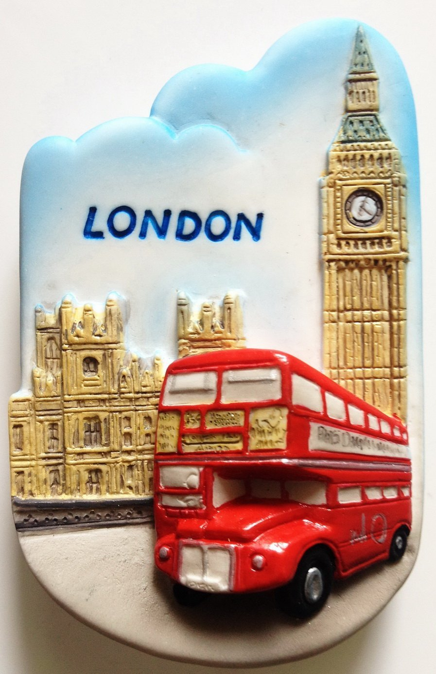 Red Bus and Big Ben London High Quality Resin 3D fridge magnet