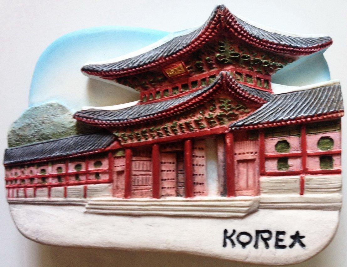 Gyeongbokgung Palace KOREA High Quality Resin 3D fridge magnet