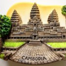 Angkor Wat CAMBODIA Khmer High Quality Resin 3D fridge magnet