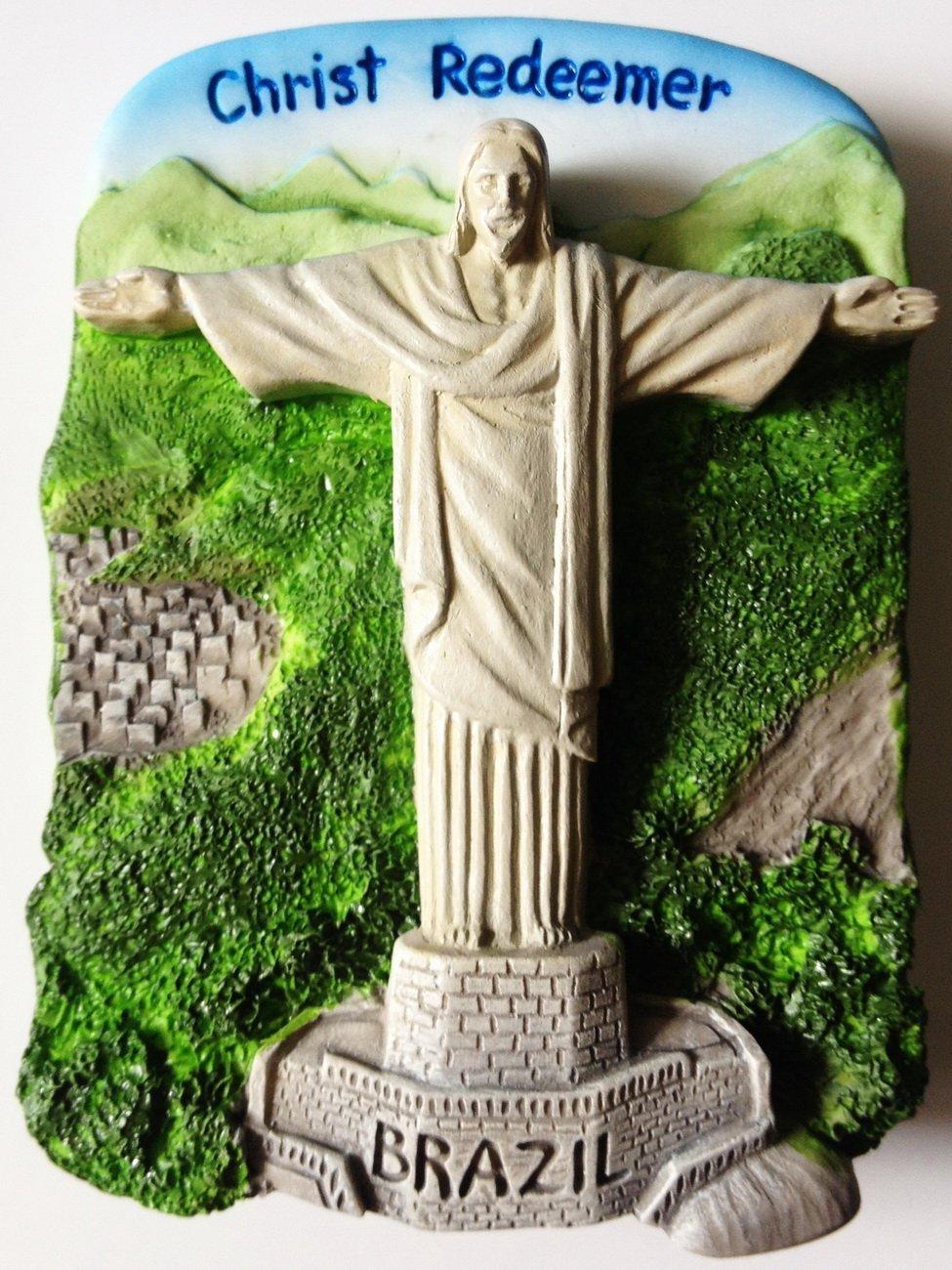 Christ Redeemer Rio De Janeiro Statue Brazil High Quality Resin 3D fridge magnet
