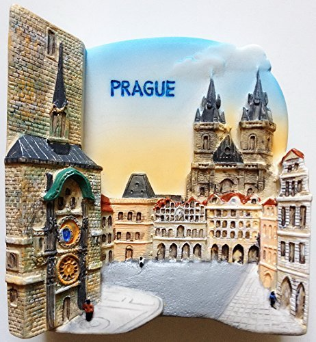 Old Town Hall and Astronomical Clock PRAGUE High Quality Resin 3D fridge magnet