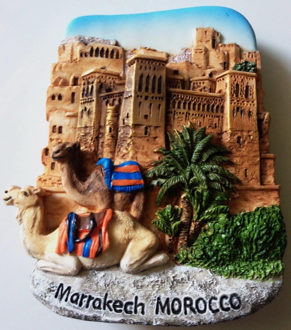 Kasbah of Ait Ben Hadou Marrakech MOROCCO High Quality Resin 3D fridge magnet