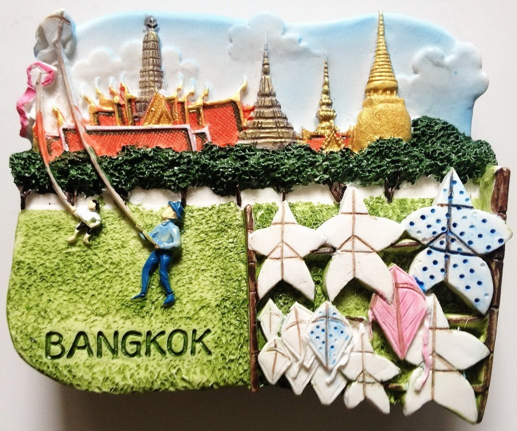 Wat Prakeo Sanam Luang Bangkok Thailand High Quality Resin 3D fridge magnet