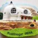 The Parinirvana Temple Kushinagar India High Quality Resin 3D fridge magnet