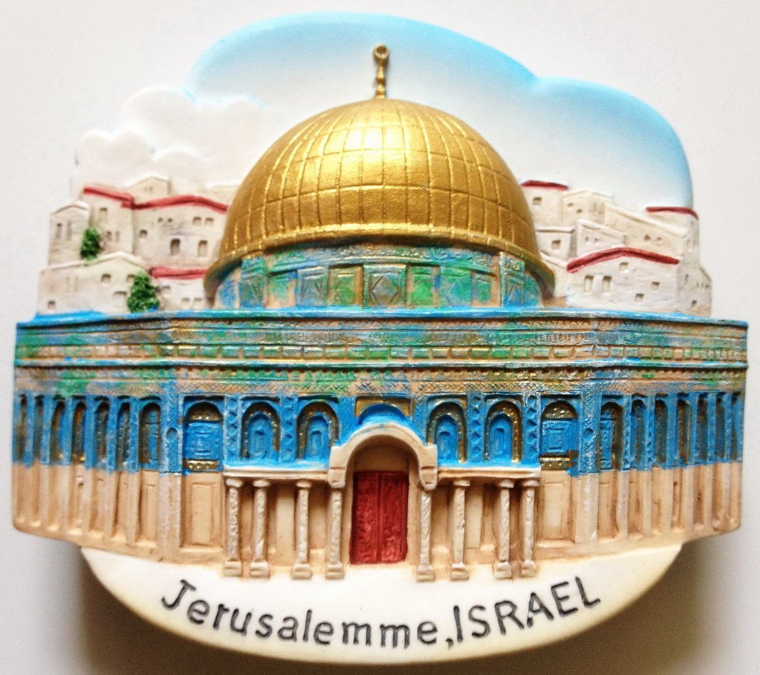 The Dome of the Rock JERUSALEM Israel High Quality Resin 3D fridge magnet