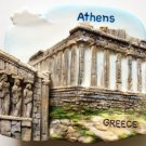 The Parthenon Acropolis ATHENS Greece High Quality Resin 3D fridge magnet