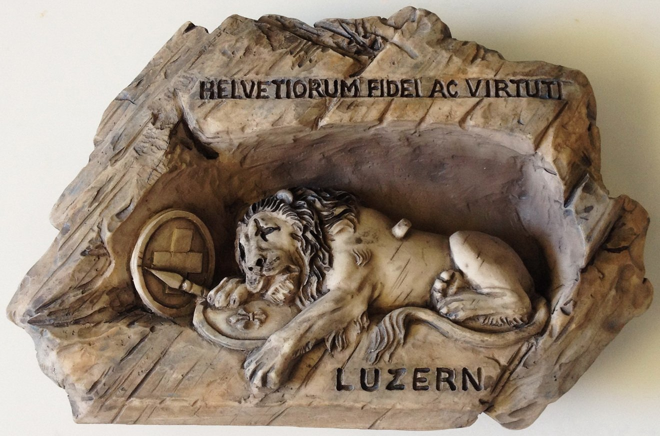 The Lion Monument Lucerne Switzerland High Quality Resin 3D fridge magnet