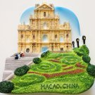 Macao Ruins of St.Paul Church China High Quality Resin 3D fridge magnet