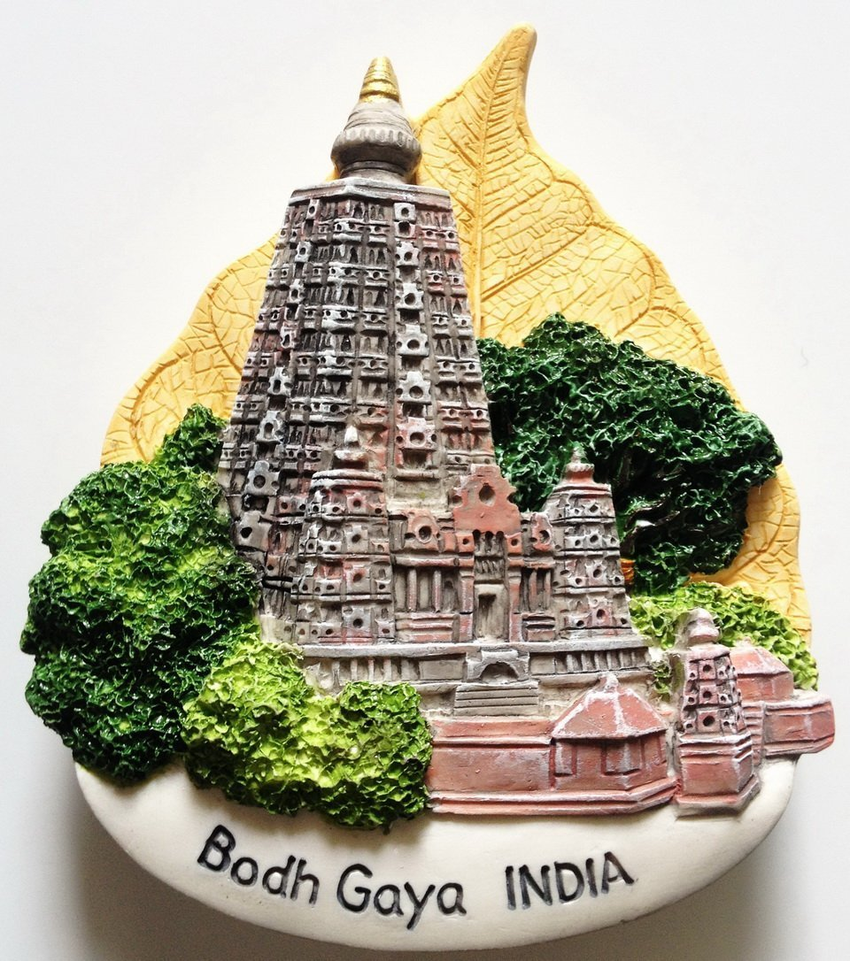 Bodh Gaya Mahabodhi Temple INDIA High Quality Resin 3D fridge magnet