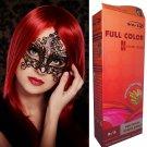 Premium Permanent Hair Colour Cream Dye Light Blonde Red Reflect Punk Goth 8/5