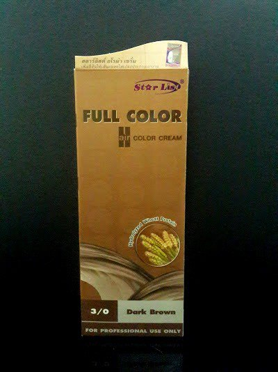 STAR LIST FULL COLOR HAIR COLOR CREAM 3/0 (DARK BROWN)