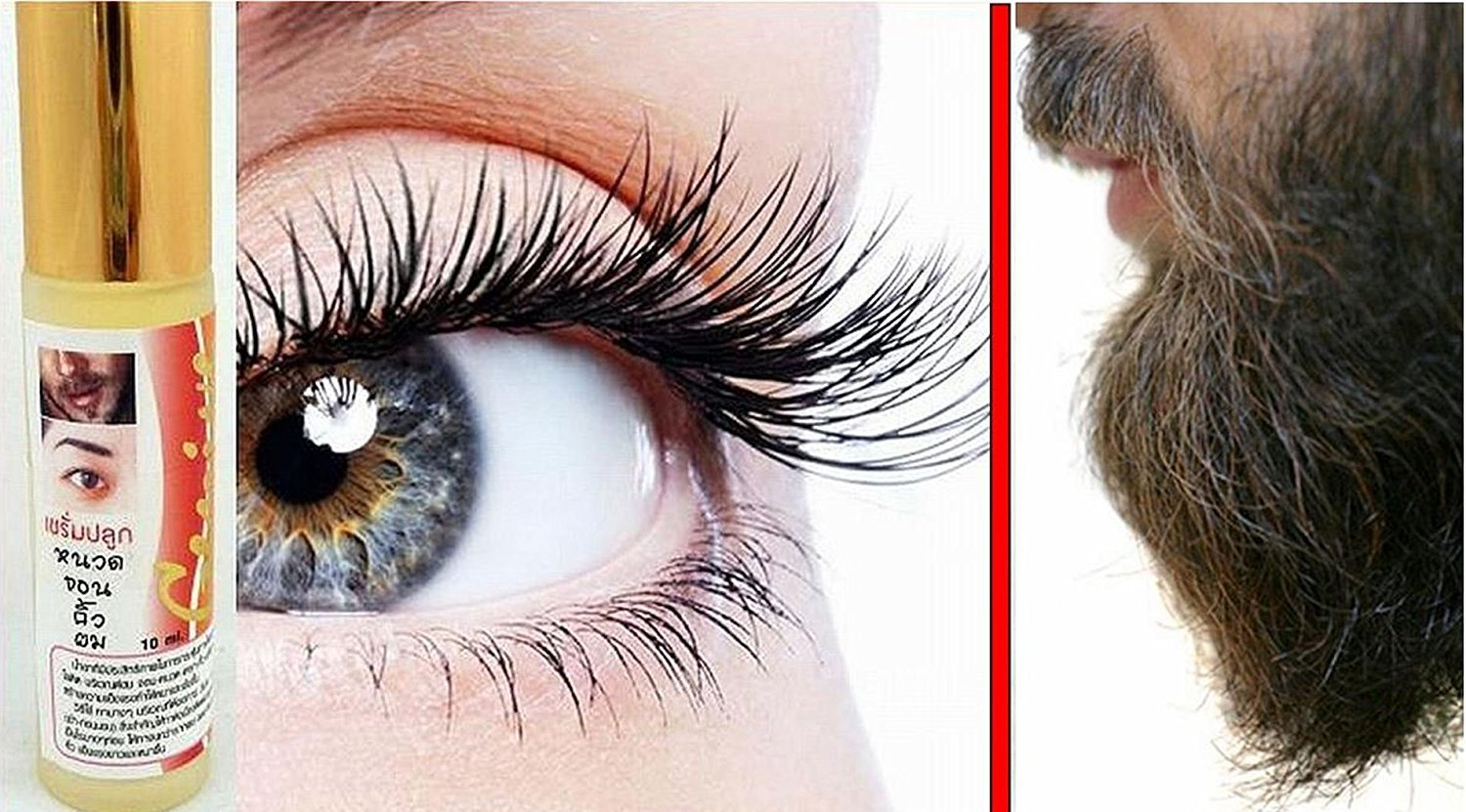 Natural Lashes Eyebrow Eyelash / BEARD Side-Burn Growth SERUM Roll-On 10ml